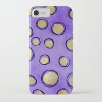 gold dots iPhone & iPod Cases featuring Dots (Purple & Gold) by HollyJonesEcu
