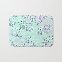 Pastel Elephants Bath Mat