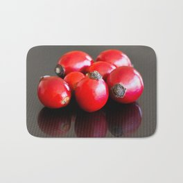 Group of ripe briar berries Bath Mat