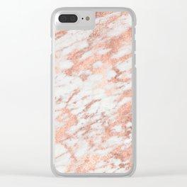 Blush Gold Quartz Clear iPhone Case