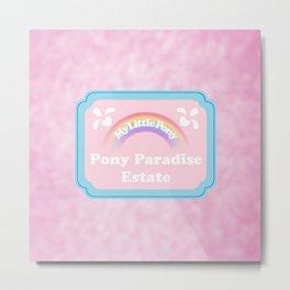 g1 my little pony paradise estate entrance plaque Metal Print