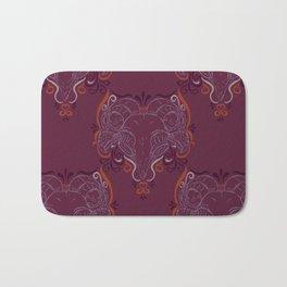 Eastern Screech Owl ~ Purple  Bath Mat