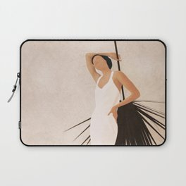 Minimal Woman with a Palm Leaf Laptop Sleeve