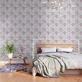 Chinoiserie Decorative Floral Motif Wallpaper