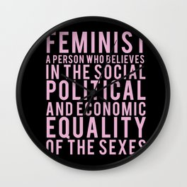 DEFINITION OF FEMINIST Wall Clock