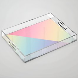 Geometric abstract rainbow gradient Acrylic Tray