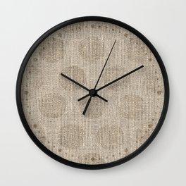 Poka dot burlap (Hessian series 2 of 3) Wall Clock