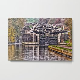Hatton Locks Warwickshire Metal Print