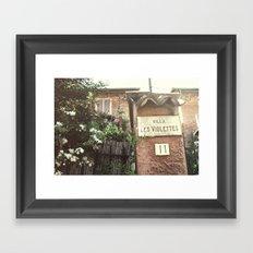 Villa Les Violettes Framed Art Print