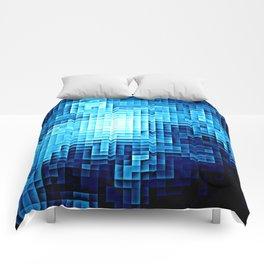 Nebula Pixels Blue Comforters