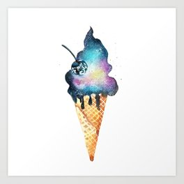 Cold as space))) Art Print