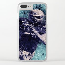 Football Player Clear iPhone Case