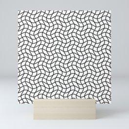 bw geometrcal str Mini Art Print