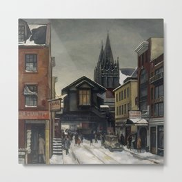 American Masterpiece 'Christopher Street - Greenwich Village' by Beulah Bettersworth Metal Print