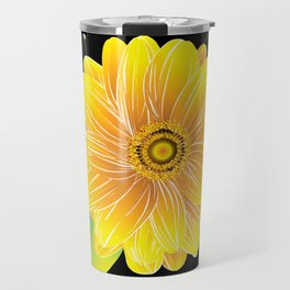 Helianthus Midnight - The Color of Vitality, Intelligence, and Happiness Travel Mug