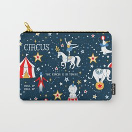 Retro Circus pattern Carry-All Pouch
