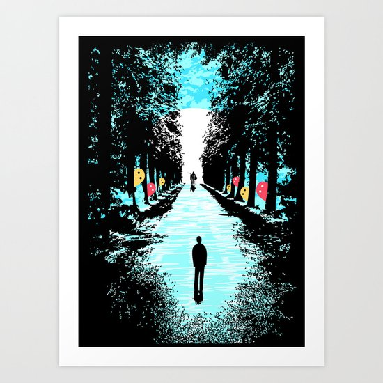 Lonely Walk Art Print