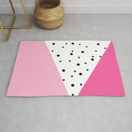 Black dots & pink leader Rug