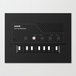 Analog Synth (Monotron) Canvas Print