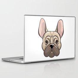 Cute french bulldog muzzle Laptop & iPad Skin