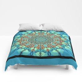 Zentangle Mandala 180218 - Bohemian Mandala Comforters