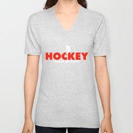 Hockey Tee Unisex V-Neck