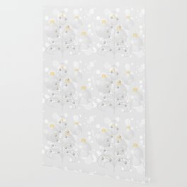 Stylized xmas tree with baubles Wallpaper