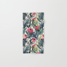 Painted Protea Pattern Hand & Bath Towel