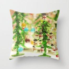Snowmen Christmas trees Throw Pillow