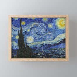 Starry Night by Vincent van Gogh Framed Mini Art Print