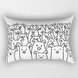 Fun Line Piggy Pattern Rectangular Pillow