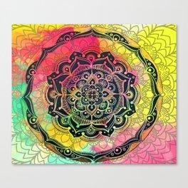 Rainbow Mandala Canvas Print