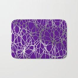 Pattern and Light purple silver Bath Mat