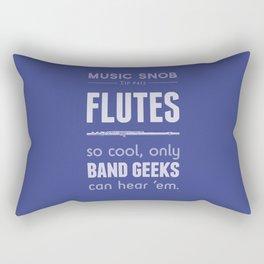 Flutes — Music Snob Tip #413 Rectangular Pillow