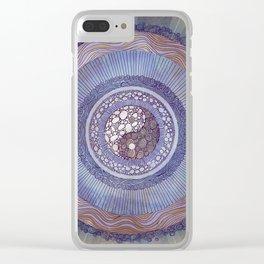 Yin Yang Balance Mandala Clear iPhone Case