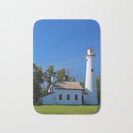 Sturgeon Lighthouse- vertical Bath Mat