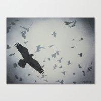 dramatical murder Canvas Prints featuring Murder by John Rowe