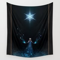 frozen Wall Tapestries featuring Frozen by Westling