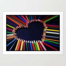 I Love You From the Bottom of my Pencil Case Art Print