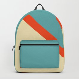 Colorful Symmetric V Shape Retro Style Stripes Uelanuhi Backpack