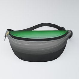 Green Gray Black Ombre Fanny Pack