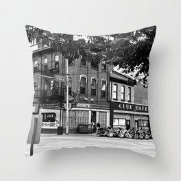 B & W East Carson & 12th Throw Pillow