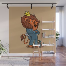cartoon lion. Wall Mural