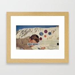 Area Ahead Framed Art Print