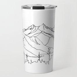 Squamish Summits :: Single Line Travel Mug