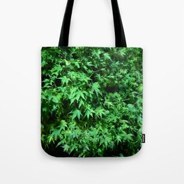 Military support Glow Japanese Maple Tote Bag