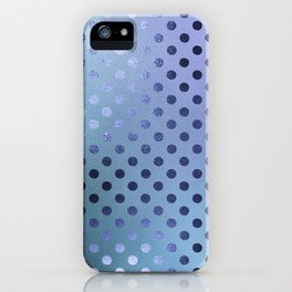 Minimalist Pattern With Iridescent Blue Circles 27 iPhone Case