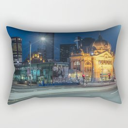 flinders street station in the blue hour Rectangular Pillow