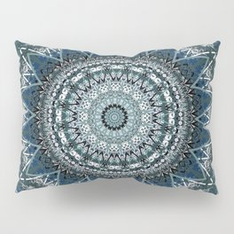 Blue Teal Madala Design Pillow Sham