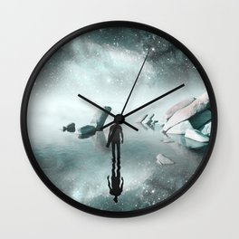 Nebula Reflections Wall Clock